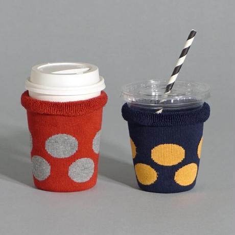 3個までレターパック送料¥370*goods*Hoffman-ホフマン-オーガニックコットン アイスコーヒーのくつした / ドット柄