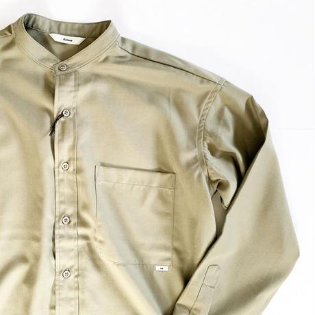 *ユニセックス*amne-アンヌ-Gabardine B.C L/S shirts/セージ