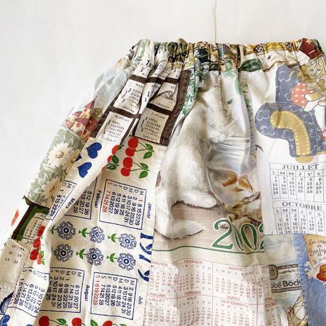 *レディース*TIGRE BROCANTE-ティグルブロカンテ-VINTAGE CLOTH SKIRT A柄