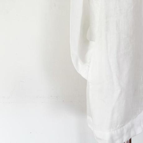 *レディース*TIGRE BROCANTE-ティグルブロカンテ-60リネンリーフロングシャツ