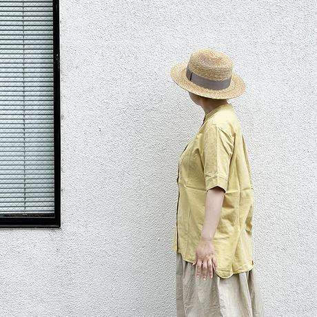 *レディース*TIGRE BROCANTE-ティグルブロカンテ-ナチュラル綾デニムビブヨークロングシャツ/ディジョンマスタード