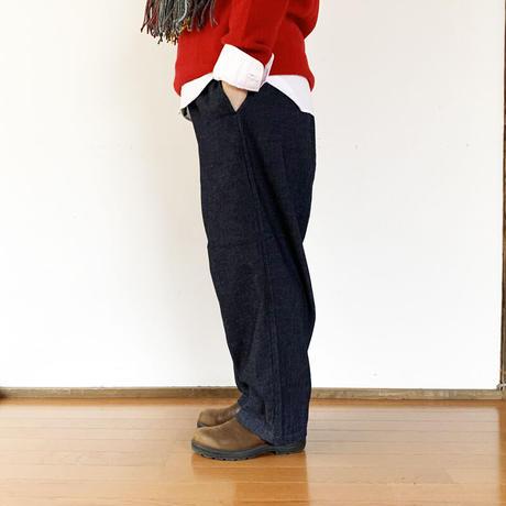 *レディース*prit-プリット-デニム裏起毛 バギーパンツ(P90130)