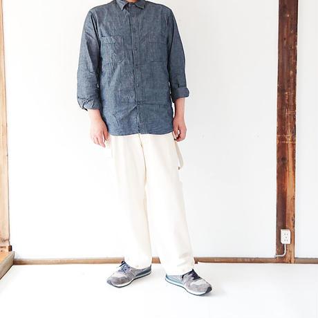 送料無料*ユニセックス*KAFIKA-カフィカ-FRENCH WORKERS SERGE SUSPENDER PANTS(KFK600)  男性着用