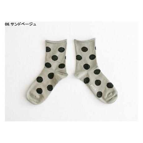 レターパックライトで発送¥370*goods*prit-プリット-ドットソックス (P01163)