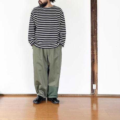 全2色*ユニセックス*Audience MADE IN TOKYO-Basque10オンス(バスク天竺)フレンチボーダー ボートネック BOX Tee