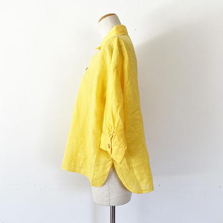 *レディース*OMNIGOD-オムニゴッド-麻キャンバス 7分袖スウェディッシュシャツ