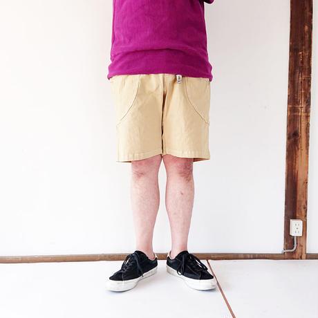 全2色メンズとレディース*go slow caravan-ゴースローキャラバン-ストレッチキャンバス製品染め脇ポケイージーショーツ