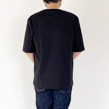 *ユニセックス*LA MOND.-ラモンド-SUVIN COTTON HALF SLEEVE TEE/ブラック