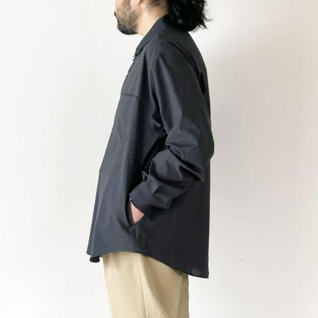 *ユニセックス*LA MOND.-ラモンド-BOLD SHARI SHIRT JACKET(LM-S-062)/チャコール