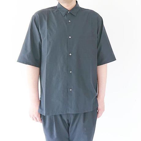 送料無料*メンズ*LA MOND.-ラモンド-WIDE SHIRTS 五分袖ワイドシャツ/NAVY(LM-S-038)