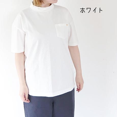 *レディース*HARVESTY-ハーベスティー-30/2度詰天竺モックネックTシャツ 3色