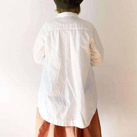 *レディース*TIGRE BROCANTE-ティグルブロカンテ-ブロードプルオーバーダブルシャツ/ホワイト