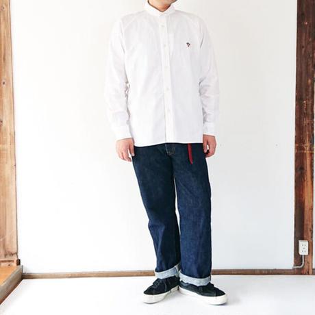 *ユニセックス*ARVOR MAREE-アルボマーレー- オックスフォードセラーカラーシャツ/男性着用