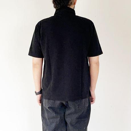 *ユニセックス*ARVOR MAREE-アルボマーレー- セーラーカラー鹿子ポロシャツ/ブラック
