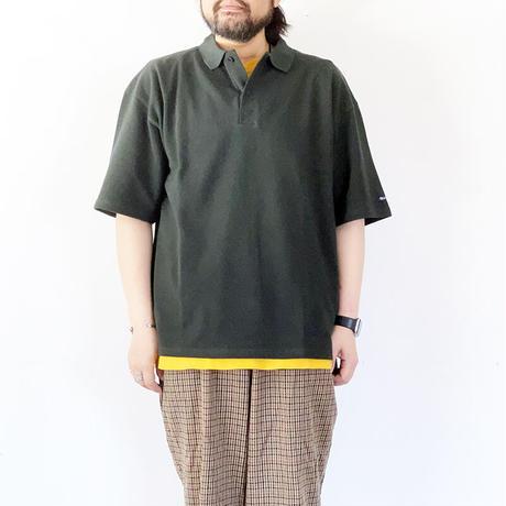 ユニセックス*Tieasy Authentic Classic-ティージー-SUPER KANOKO BIG POLO( te901)/フォレストグリーン