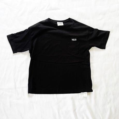 *ユニセックス*H.UNIT-エイチユニット-YES logo 刺繍 tee/ブラック