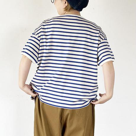 *レディース*fabrique en planete terre-ファブリケアンプラネテール-marin button T/肩ボタンマリンTシャツ