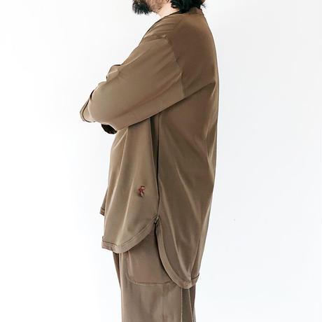 全2色*ユニセックス*SLOWHANDS-スローハンズ-nylon stretch nenley 強ストレッチヘンリーネックシャツ
