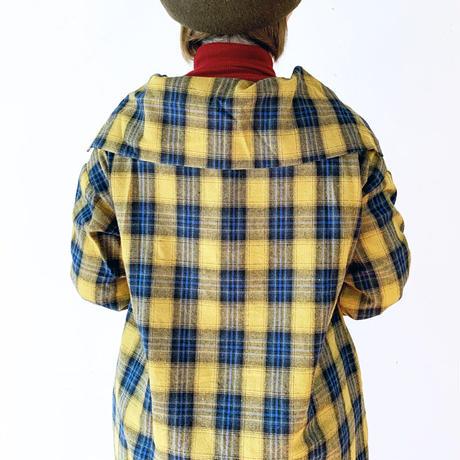 """*レディース*KELEN-ケレン-Big collar Check Dress.  ビッグカラーチェックドレス""""Lucas"""""""