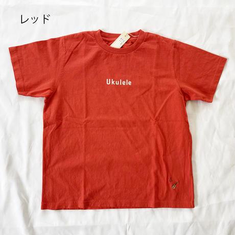 """レディース*快晴堂-カイセイドウ-サイズ3+ 海上がりTシャツ""""Ukulele""""/レッド"""