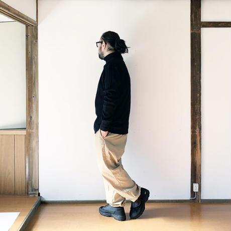 *ユニセックス*Audience MADE IN TOKYO-オーディエンス-度詰ワッフル タートルネック フィンガーホール L/S/ブラック