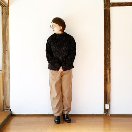 """*レディース*KELEN-ケレン-メランジェニット プルオーバー""""Vall Mix Knit"""" /チャコール"""