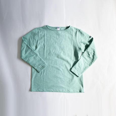 ユニセックス*Tieasy Authentic Classic-ティージー-HDCS BOATNECK BASQUE SHIRT(te001)/Lt.Green