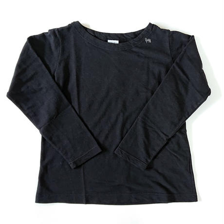 *レディース*grin★グリン★ホームスパンインレイボートネック 羊刺繍T(8195C-016)/ブラック