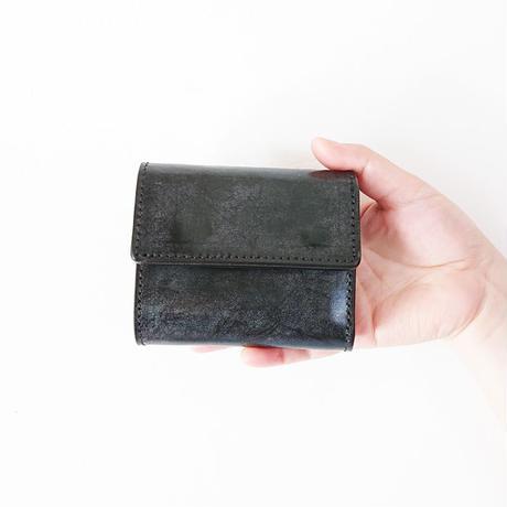 送料無料*goods*RE.ACT★リアクト★ Bridle Leather Three Fold Compact Walle 三つ折りコンパクト財布/ブラック