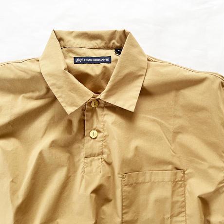 *ユニセックス*TIGRE BROCANTE-ティグルブロカンテ-Micro Cotton Venice Beach Rib Poloshirts/リブポロシャツ /ベージュ