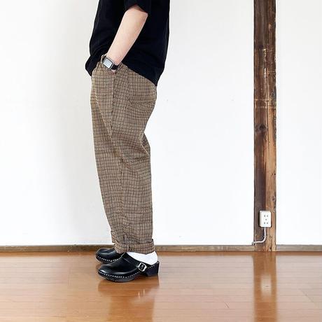 *ユニセックス*H.UNIT-エイチユニット- L/C check easy wide pants