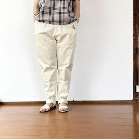 """全2色*KELEN-ケレン- 洗える綺麗目!コットンブロードクロステーパードタックトラウザーパンツ""""Harve"""""""