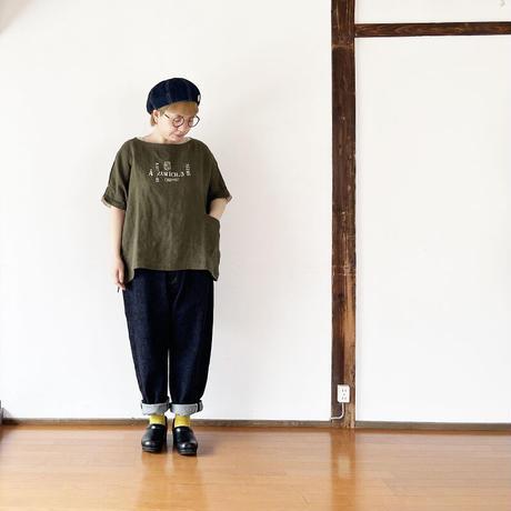 レディース*快晴堂-カイセイドウ-ヘンプリネン 布帛スモックT/ステンシル(11S-06)