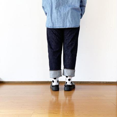 女性着用画*ユニセックス*TCB jeans-ティーシービージーンズ- TCB Slim50's(TYPE 501XX Slim)