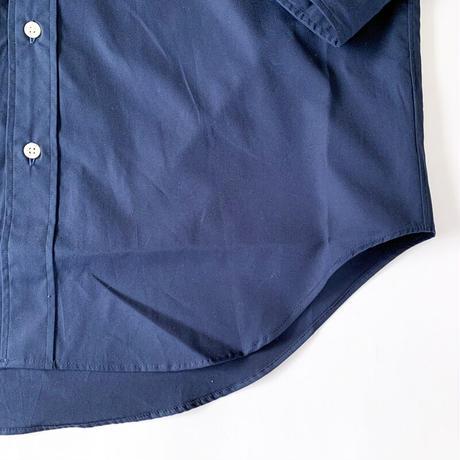 *ユニセックス*amne-アンヌ-solid B.C L/S  shirts/ネイビー