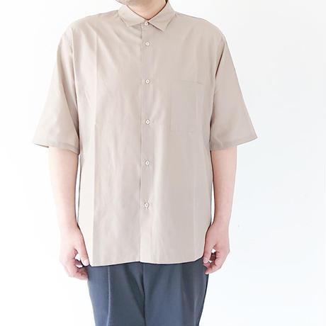 送料無料*メンズ*LA MOND.-ラモンド-WIDE SHIRTS 五分袖ワイドシャツ/G.BEIGE(LM-S-038)