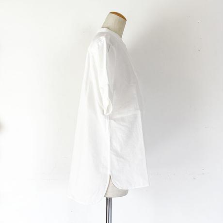 *レディース*TIGRE BROCANTE-ティグルブロカンテ-ナチュラル綾デニムビブヨークロングシャツ/ホワイト