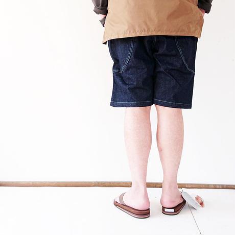 メンズとレディース*go slow caravan-ゴースローキャラバン-ストレッチデニム脇ポケイージーショーツ