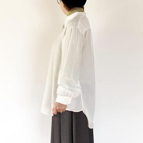 *レディース*Urvin-アーヴィン-ANTIQUE LIKE SHIRT アンティークライクシャツ/テンセルホワイト