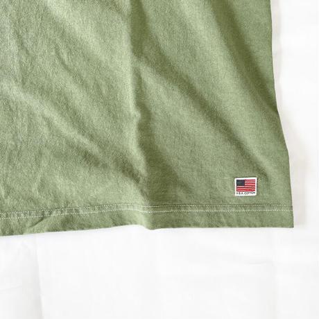 *ユニセックス*modem design-モデムデザイン-USAコットン 硫化染めTシャツ/グリーン