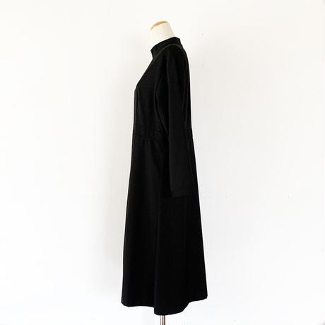 *レディース*KELEN-ケレン-アコーディオンプリーツスタンドカラードレス'Gip'/ブラック
