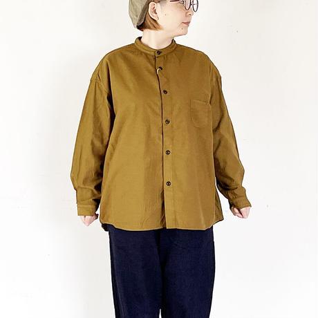 全3色レディース*prit-プリット-バックサテン スタンドカラーワイドシャツ 80235