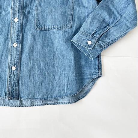 *レディース*clip.tab-クリップタブ- 綿麻デニムワークシャツ