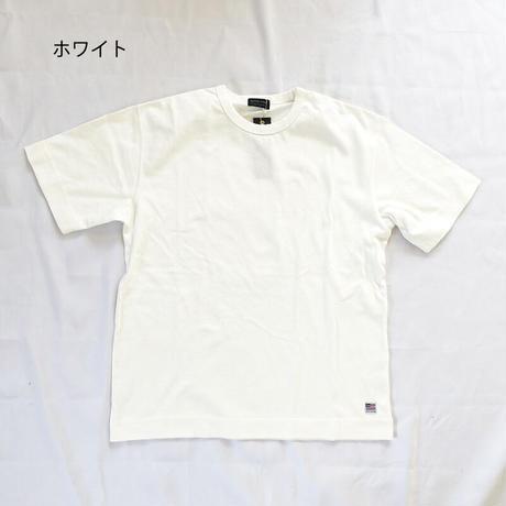*ユニセックス*modem design-モデムデザイン-バイオウォッシュ 10oz USA コットン Tシャツ/ホワイト