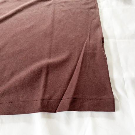 *ユニセックス*LA MOND.-ラモンド-SUVIN COTTON HALF SLEEVE TEE/ワインレッド(旧ボルドー色)