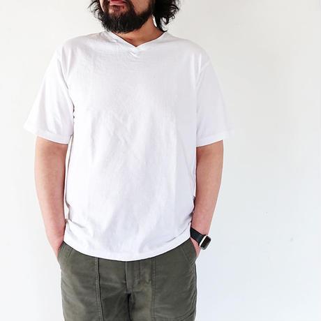*ユニセックス*have a good day-ハブアグッドデイ-VネックTシャツ/ホワイト
