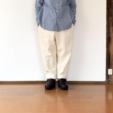 *レディース*prit-プリット-9/1ドビーデニム  サルエル パン(P91102)  /ホワイト