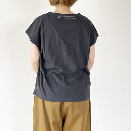 全3色*レディース*fabrique en planete terre-ファブリケアンプラネテール-cap sleeve T /キャップスリーブTシャツ
