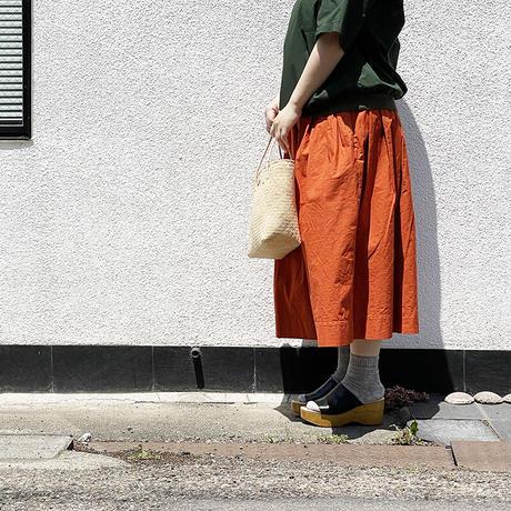 *レディース*TIGRE BROCANTE-ティグルブロカンテ-ジンバブエポケットフィセルスカート/オレンジ