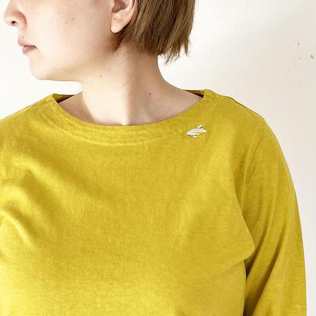 全3色*レディース*grin-グリン-マナプールボートネック ネコ刺繍 L/S T